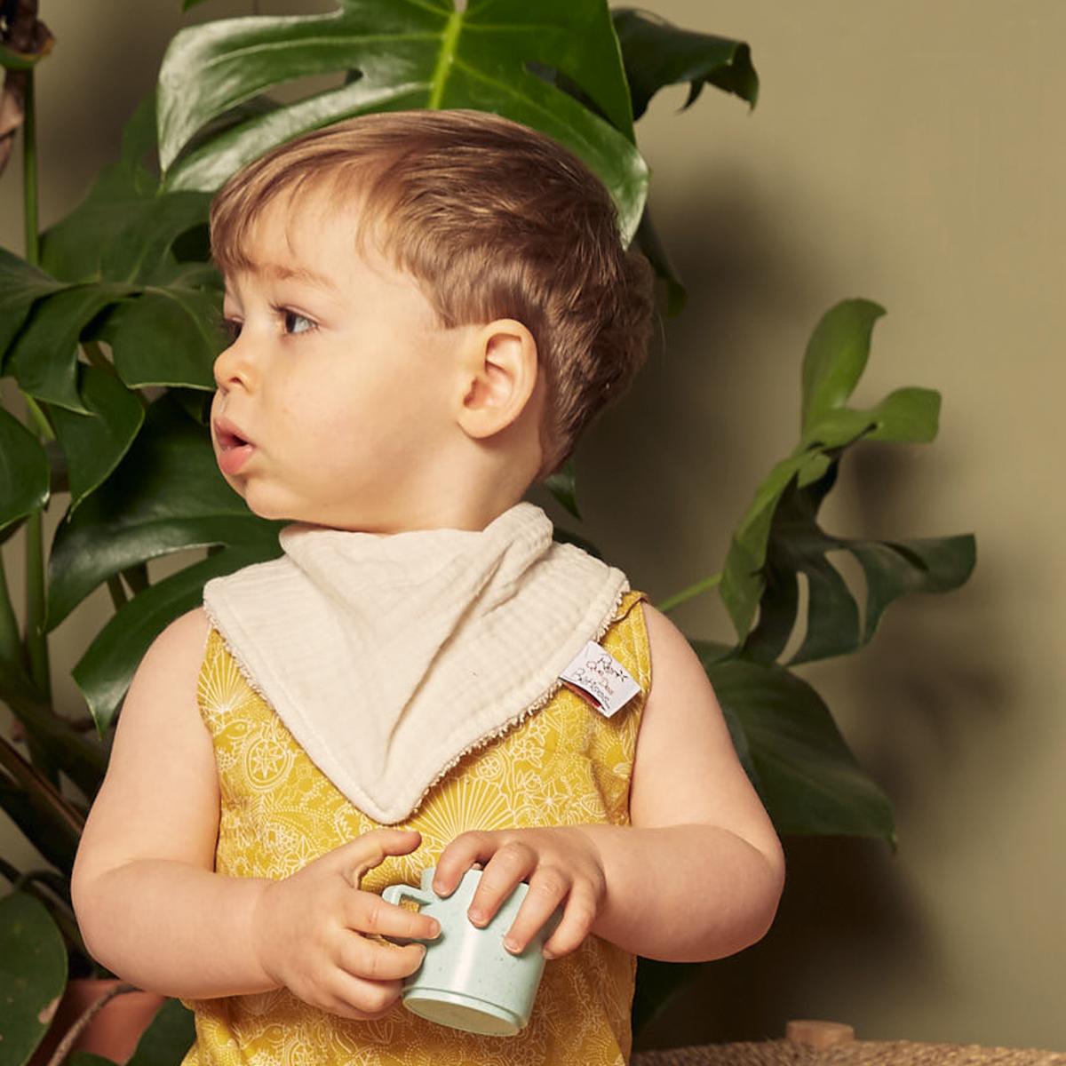 bavoir bandana écru rien que des betises bébé