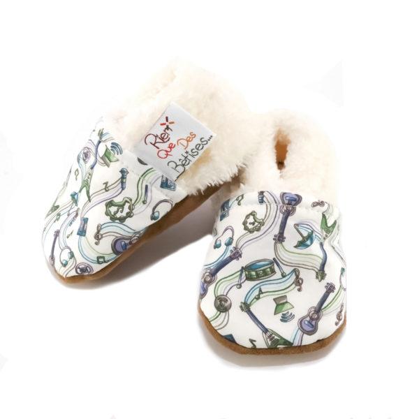 chaussons bébé rien que des bêtises liberty