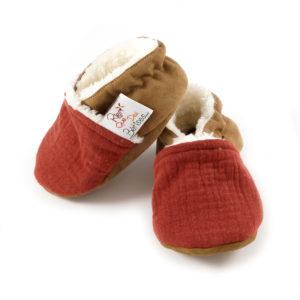 chaussons bébé double gaze rien que des betises
